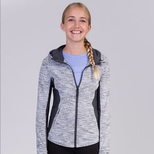 Ivivva Lululemon Best Self Grey Running Jacket
